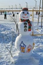Snowmen Festival was held in Irkutsk