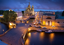 St. Petersburg  Group Helicopter tour with transport