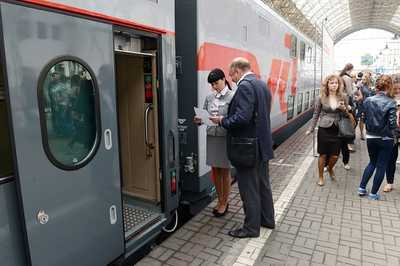 First double-deck train in Russia