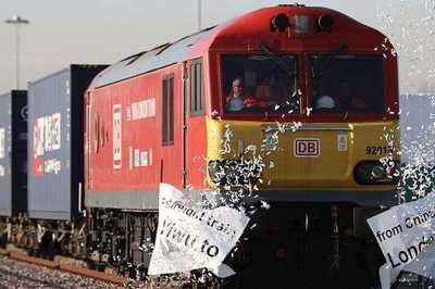 The first cargo train from China has arrived in London