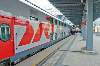 Double-decker Train on Moscow - Kazan Route