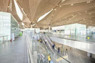 The new terminal of the Pulkovo airport has inspired journalists from The Telegraph