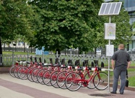 Solar-Powered Bikes in Moscow