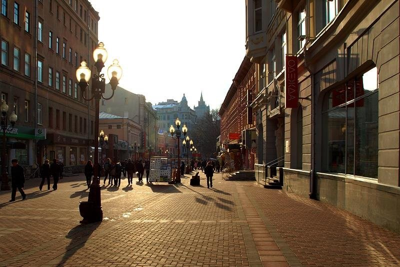 Mosca  Visita alla via Old Arbat senza trasporto