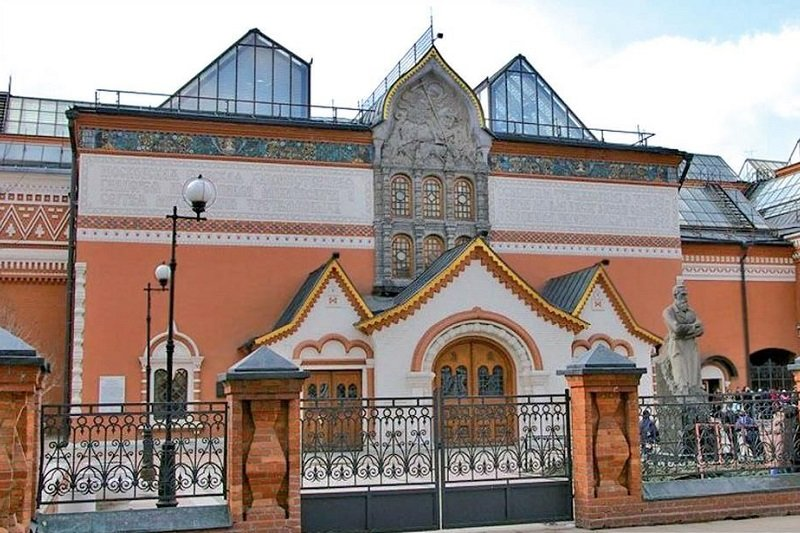Moscou  Tour de la Galerie Tretiakov sans transport