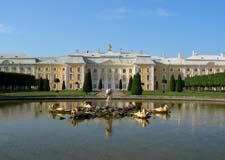 Saint Pétersbourg  Tour de Peterhof (Petrodvorets) en hydroptère