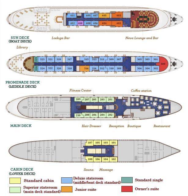 plan Volga Dream 5* luxury