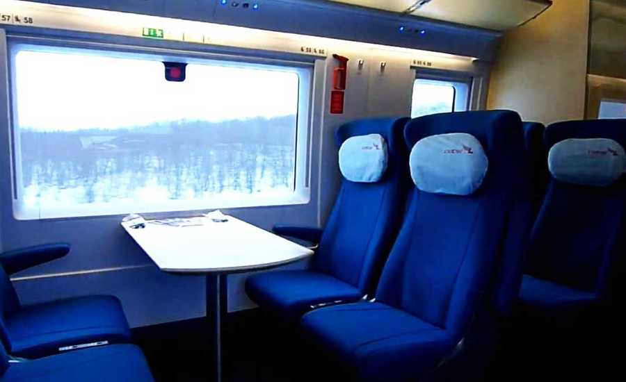 Sapsan train from Moscow to St. Petersburg