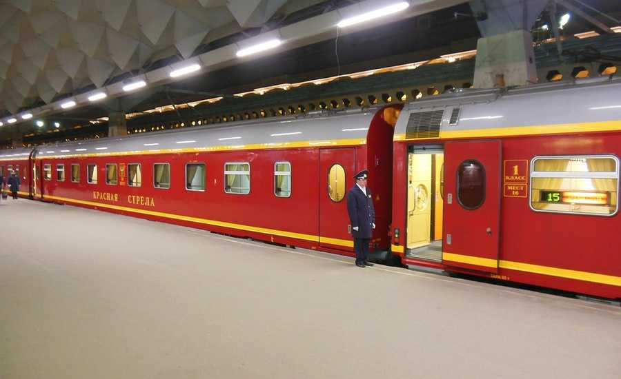 Moscow to St. Petersburg train Red Arrow