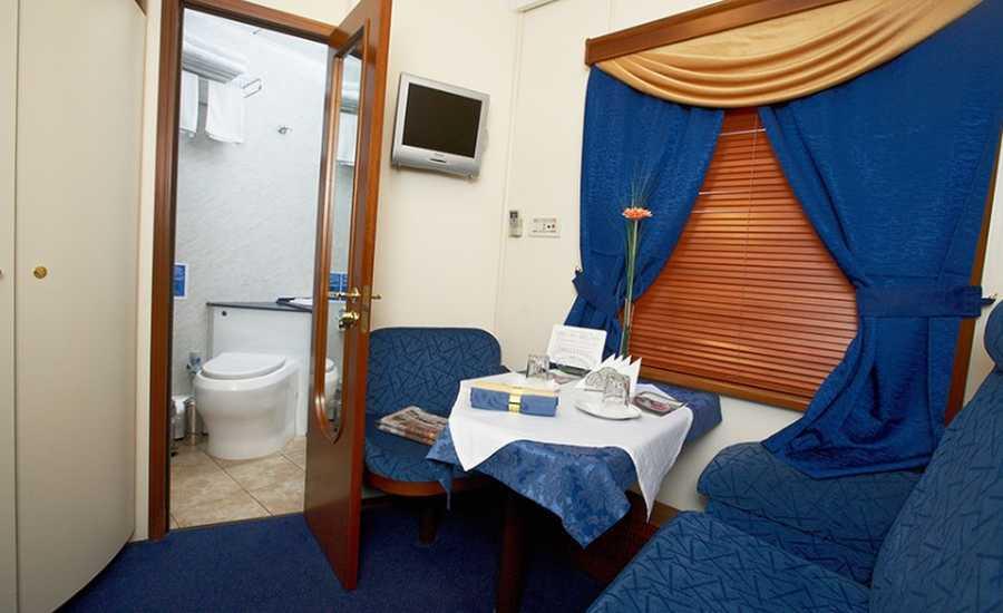 VIP cabin on a Russian train