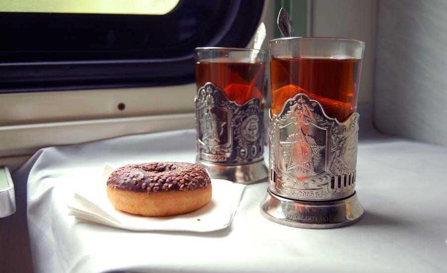 Train experience - tea