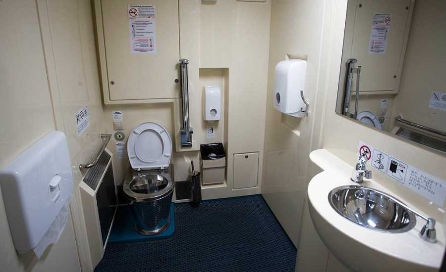 Tips for travelling by train - WC in Russian train