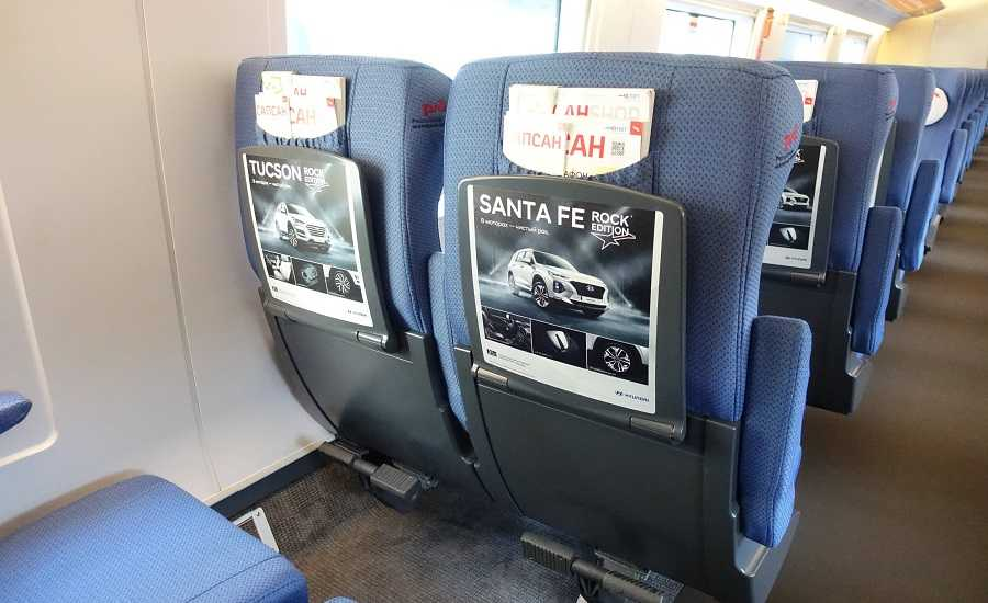 Different Seating Classes on the Sapsan Train - Standard class