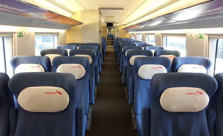 Different Seating Classes on the Sapsan Train - Economy class