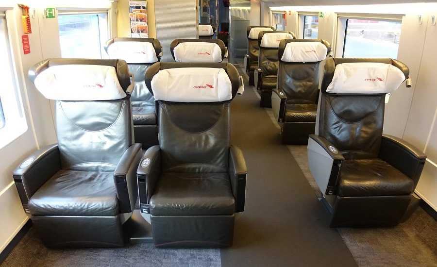 Different Seating Classes on the Sapsan Train - First Class -