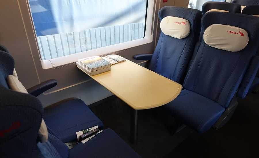 Different Seating Classes on the Sapsan Train - Economy Plus class