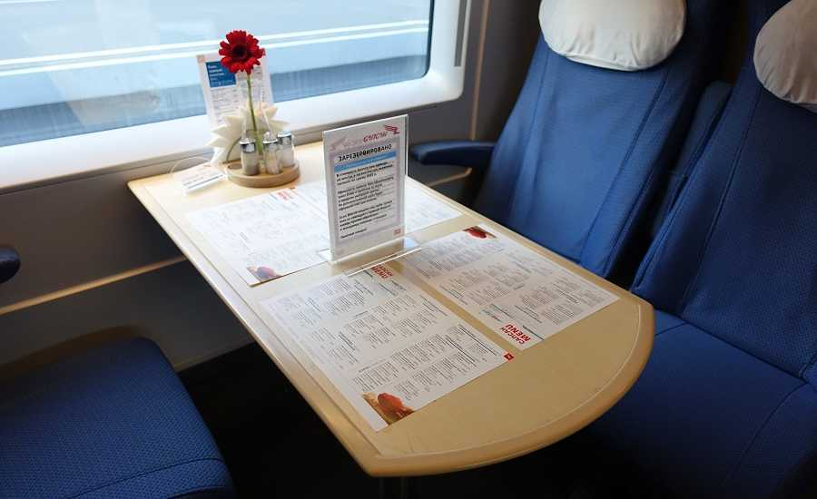 Different Seating Classes on the Sapsan Train - Dining