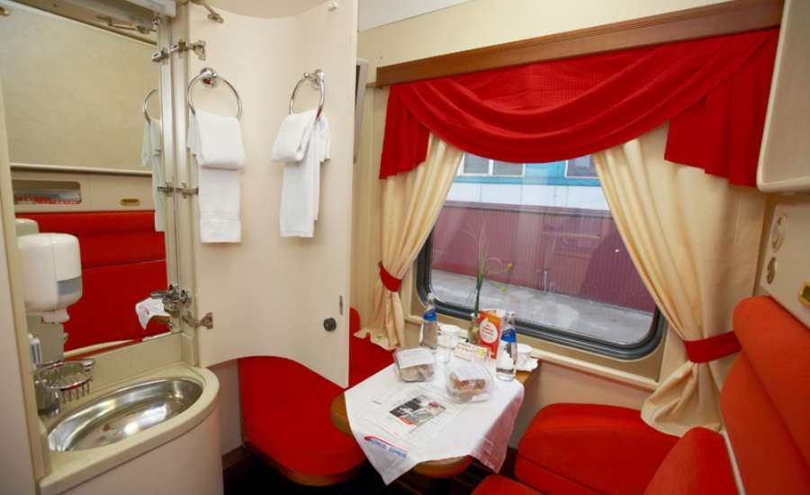 First Class Travel on Russian Trains - Single cabin