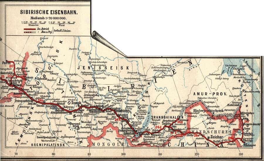 the Trans-Siberian Railway, 1897
