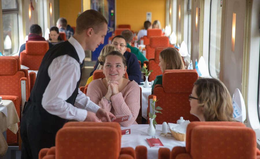 Food on the Transsiberian rail trip - Restaurant