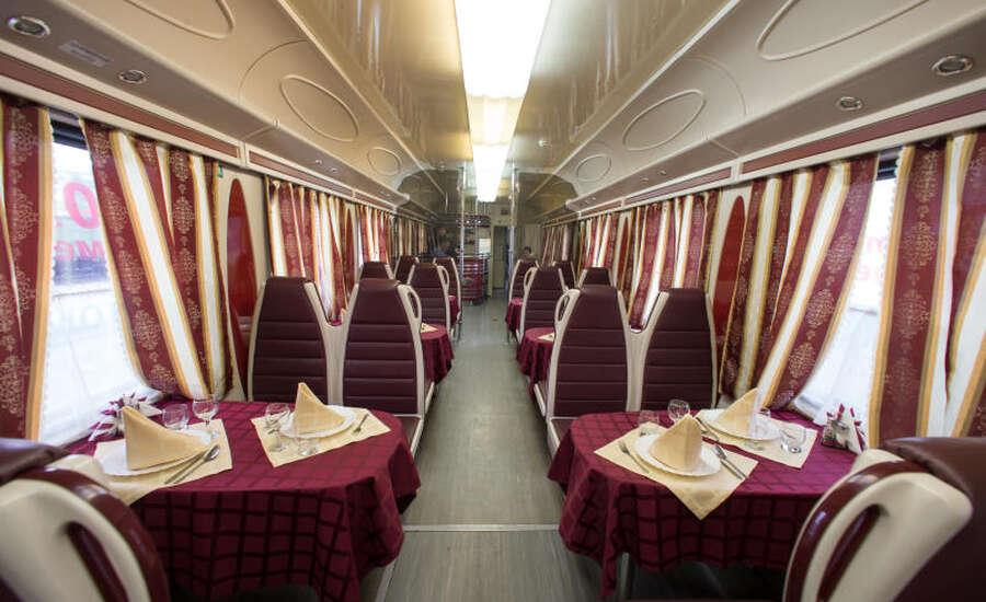 Food on the Transsiberian Rail trip - On Board