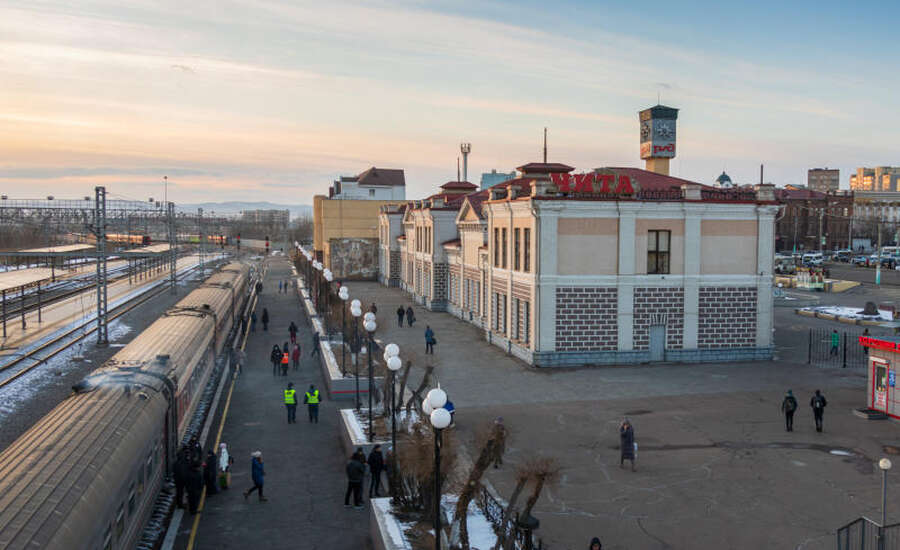 Russian train experience - Station