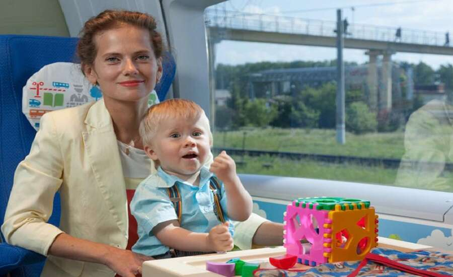 Traveling on the Sapsan with Children - children's compartment