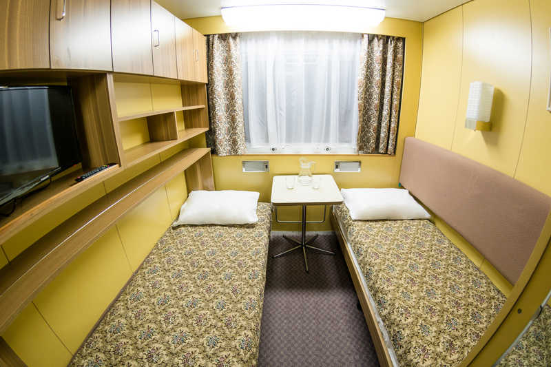 STANDARD TWIN CABIN ON MAIN OR MIDDLE DECK (A2, 10 sq.m.) on MS Swan Lake