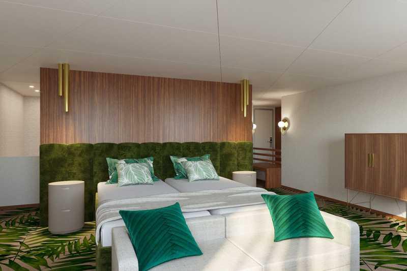 Suite cabin on MS Mustai Karim